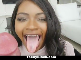 TeenyBlack - Hot Ebony Girlfriend Fucked While Studying