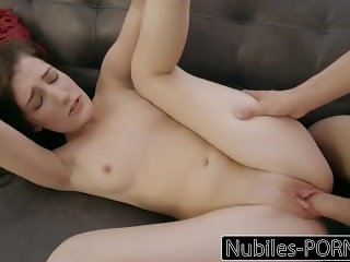 NubilesPorn - Teen Tricks Him To Cum Inside Her