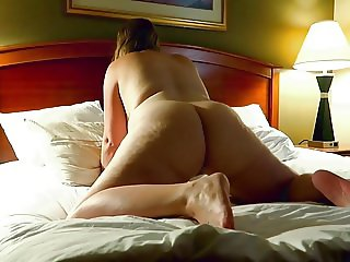 Sexy Blonde Pawg Rides Him at the Hotel