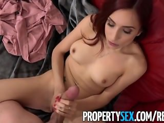 PropertySex - Foxy redhead real estate agent fucks her new boss