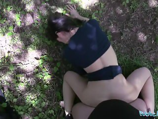 Public Agent Amazingly sexy ass rides big cock in a public place