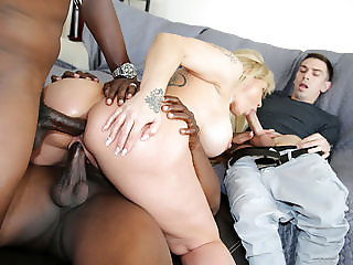 Busty Ryan Conner Gets DP'd by Black Dicks - Cuckold Session
