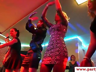Amateur Euro babes riding cock at sexparty