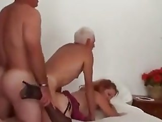 Bisex Mature Couple and Friend