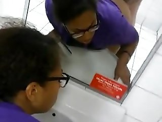 Sex with a sista in a public toilet