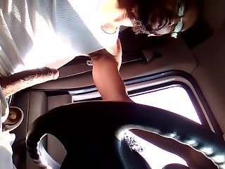 Driving and stroking... I was so horny