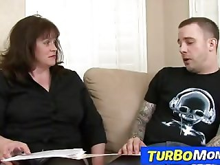 Chubby lady professor Ginger has sex with a student