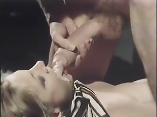 retro vintage big cock milf stockings facial cumshot bed