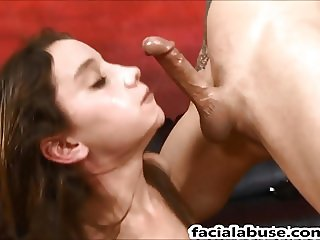Extreme face fucking for Petite slut Paisley