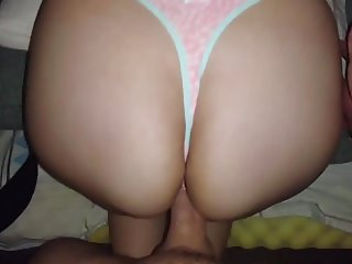 CUMMING ON MY SISTER ASS!! SOFTNESS THONG!!