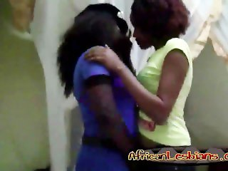 Horny ebony lesbians sharing their burning hot lust and passion