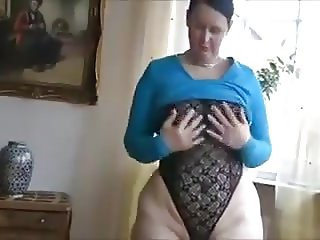 Home striptease from mature