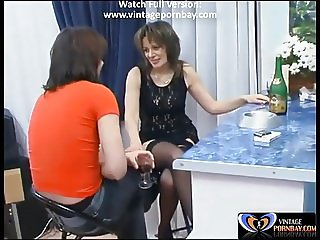 Aunt Teasing Him with Her Sexy Dress