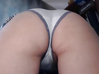 white panties and hairy pussy