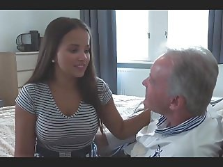 olivia young natural breasts with old man