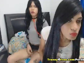 Two Hot Tranny Suck and Fuck