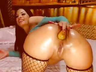 Beautiful russian on Anal Webcam Big butt