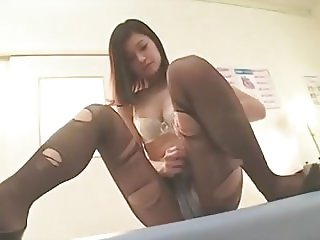 Black female doctor in pantyhose 2
