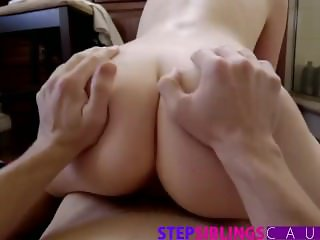 Step Brother Cums Inside Sisters Teen Pussy