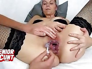 POV close-ups of MILF vagina feat. hot mom Beate