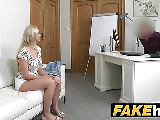 Fake Agent Blonde Beauty in Casting Couch fuck