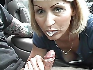 Broken Down Car Blowjob