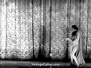 Mature Lady Strips on the Stage (1940s Vintage)