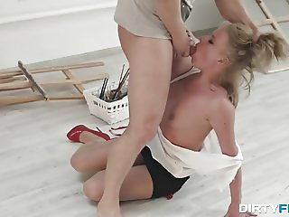 Dirty Flix - Anita - Office slut takes a rough fuck