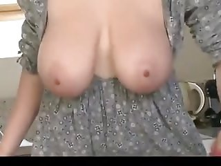 Her Big Boobs Fall Out While Cleaning The Kitchen