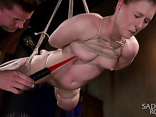 Pain Slut in Extreme Bondage with Brutal Pain Domination!!!