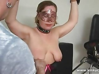 Extreme bound tits and squirting orgasms