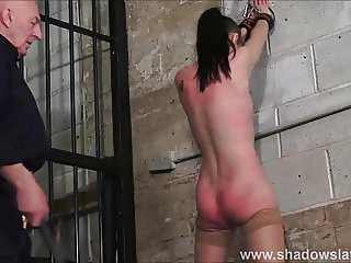 Strict whipping of amateur slave Lolani and spanking punish