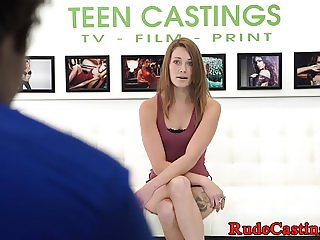 Smalltits casting beauty gets pounded hard