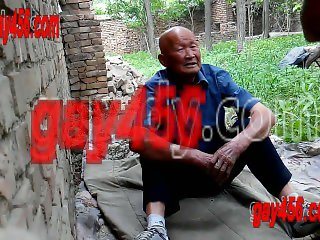 chinese oldman in public