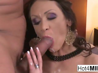 Brunette MILF Cynthia gets fucked in the ass