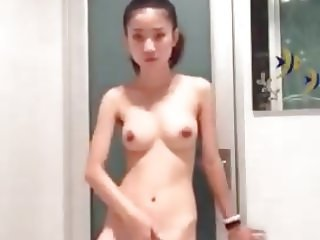 young thai girl on phone.mp4