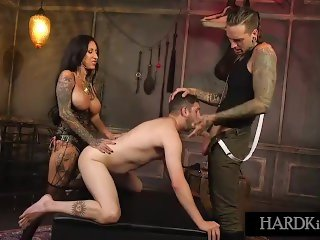 MIstress and her man cuckold slave partial