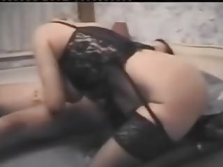 Vintage - Granny fucks in basque and stockings