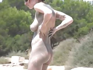 Best Milf nude beach mud bath.mp4