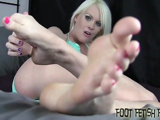 We will wiggle our toes in your face while you jerk off