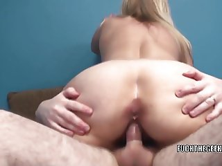 Mature blonde Liisa takes a stiff cock in her sweet pussy