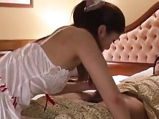 Japanese room service blowjob