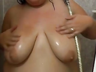 2 matures with huge saggy tits are fucking