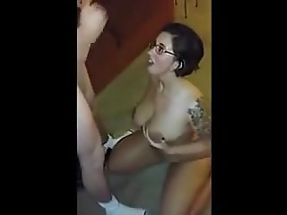 beautiful nerdy girl wants two facials
