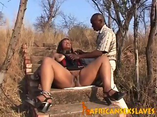 African Slave Gets Tied And Tortured Outdoors