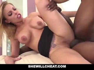 SheWillCheat - Slut Wife Britney Amber fucks famous football players BBC