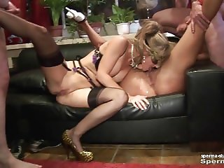 Cum in mouth & creampies - Natascha and Luna P2