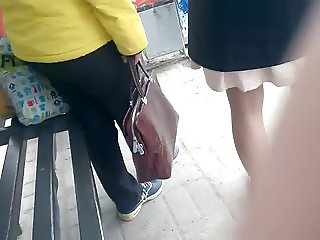 Cum in bus stop 7