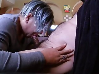 Punk Granny Swallows a Load
