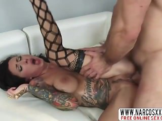 Determined Aunt Lily Lane In Stockings Wants Fast Sex